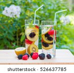 two glasses of delicious...   Shutterstock . vector #526637785