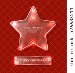 shiny christmas star   glowing... | Shutterstock .eps vector #526638511