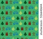 green christmas pattern | Shutterstock . vector #526640644