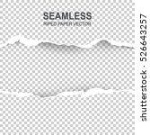 seamless ripped paper and... | Shutterstock .eps vector #526643257