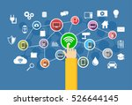 wireless connection. iot.... | Shutterstock .eps vector #526644145