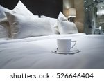 Stock photo elegant and comfortable home hotel bedroom interior 526646404