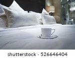 Stock photo elegant and comfortable home hotel bedroom interior 526646404