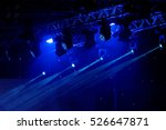blue luminous rays from concert ... | Shutterstock . vector #526647871