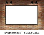 blank frame on brick wall with... | Shutterstock . vector #526650361