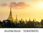 shwedagon pagoda at sunset ... | Shutterstock . vector #526656031