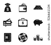 money icons set. simple... | Shutterstock .eps vector #526661134