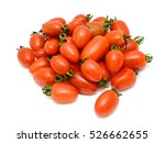 Ripe Cherry Tomatoes Isolated...