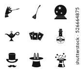 tricks icons set. simple... | Shutterstock .eps vector #526664875