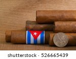 luxury cuban cigars with us... | Shutterstock . vector #526665439