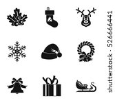 holiday icons set. simple... | Shutterstock .eps vector #526666441