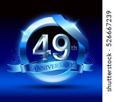 celebrating 49th anniversary... | Shutterstock .eps vector #526667239