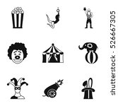 circus chapiteau icons set.... | Shutterstock .eps vector #526667305