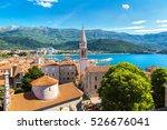 old town in budva in a...   Shutterstock . vector #526676041