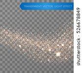 gold glitter star dust trail... | Shutterstock .eps vector #526678849