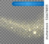 gold glitter star dust trail... | Shutterstock .eps vector #526678855