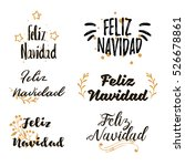 spanish merry christmas feliz... | Shutterstock .eps vector #526678861