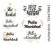 spanish merry christmas feliz... | Shutterstock .eps vector #526678861