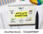 Small photo of Notebook with Toolls and Notes about Affiliate Marketing