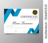 certificate template awards... | Shutterstock .eps vector #526691515