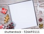 christmas letter writing on... | Shutterstock . vector #526693111