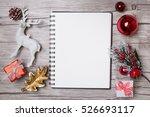 christmas letter writing on... | Shutterstock . vector #526693117
