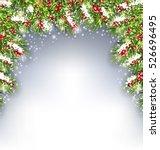 illustration holiday decoration ...   Shutterstock . vector #526696495