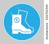 'anti static shoes safety'... | Shutterstock .eps vector #526701544