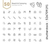 camping   beach icon set. 50... | Shutterstock .eps vector #526709191