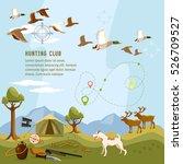hunting background  flying duck ...   Shutterstock .eps vector #526709527