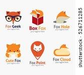 fox logo design template.... | Shutterstock .eps vector #526711285