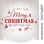 christmas and new year... | Shutterstock .eps vector #526716847