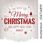 christmas and new year... | Shutterstock .eps vector #526716859