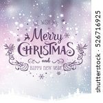 christmas and new year... | Shutterstock .eps vector #526716925