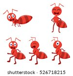 cute ants cartoon collection set
