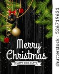 christmas card background with... | Shutterstock .eps vector #526719631