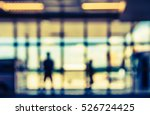 blurred people standing at... | Shutterstock . vector #526724425