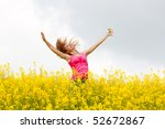 young beautiful happy woman on... | Shutterstock . vector #52672867