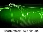 charts of financial instruments ... | Shutterstock . vector #526734205