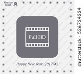 full hd video icon  vector... | Shutterstock .eps vector #526734334