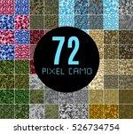 pixel camo seamless pattern big ... | Shutterstock .eps vector #526734754
