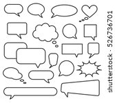 vector speech bubble icons.... | Shutterstock .eps vector #526736701