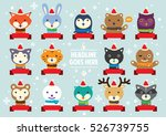 vector of various cute festive... | Shutterstock .eps vector #526739755