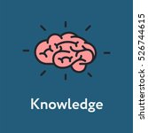 brain knowledge minimalistic... | Shutterstock .eps vector #526744615