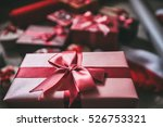 stylishly packaged boxes with... | Shutterstock . vector #526753321