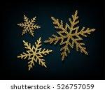 vector golden glitter... | Shutterstock .eps vector #526757059