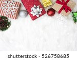 christmas background with... | Shutterstock . vector #526758685