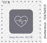cardiogram icon vector | Shutterstock .eps vector #526760515