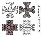 set of celtic design elements... | Shutterstock .eps vector #52676191