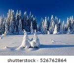 winter landscape  spruce tree...   Shutterstock . vector #526762864